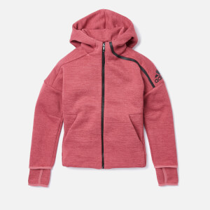 adidas Girls ZNE 3 Hoody - ZNE Heather/Trace Maroon