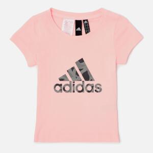 adidas Girls Logo T-Shirt - Haze Coral