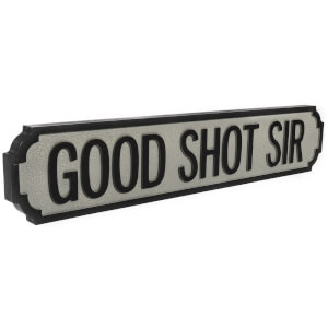 Shh Interiors Good Shot Sir Vintage Street Sign