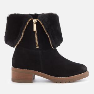 Carvela Women's Snug Suede Flat Boots - Black