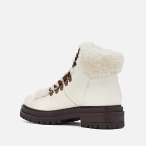 Kurt Geiger London Women's Regent Leather Hiker Style Boots - White: Image 2