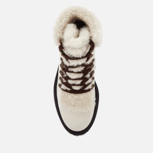 Kurt Geiger London Women's Regent Leather Hiker Style Boots - White: Image 3