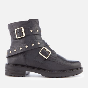 Kurt Geiger London Women's Stinger Leather Biker Boots - Black