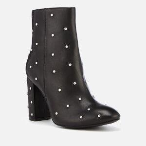 Kurt Geiger London Women's Swiss Leather Heeled Ankle Boots - Black: Image 2