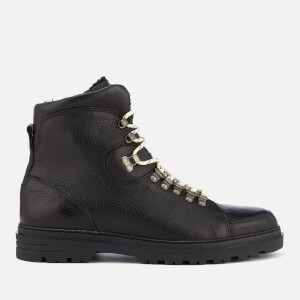 Kurt Geiger London Men's Amber Leather Hiker Style Boots - Black