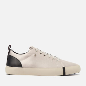 Armani Exchange Women's Shiny Sateen Low Top Trainers - Beige