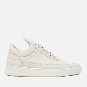 Filling Pieces Lane Nubuck Low Top Trainers - White