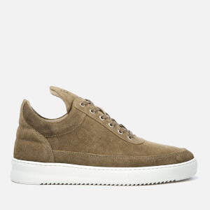 Filling Pieces Men's Waxed Suede Low Top Trainers - Beige