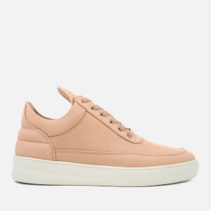 Filling Pieces Women's Lane Nubuck Low Top Trainers - Nude