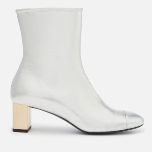 Mulberry Women's Leather Heeled Ankle Boots - Silver