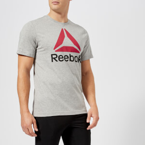 Reebok Men's Stacked Short Sleeve T-Shirt - Grey