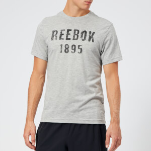 Reebok Men's 1895 Short Sleeve T-Shirt - Med Grey Heather