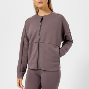 Reebok Women's Full-Zip Coverup Sweatshirt - Almost Grey