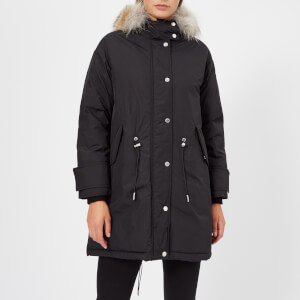 Belstaff Women's Chantrey Down Fur Trim Coat - Black