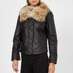 Belstaff Women's Guildford 2.0 Fur Trim Coat - Black