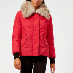 Belstaff Women's Barnsdale Fur Trim Coat - Lava Red