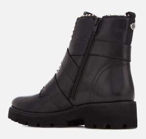 Steve Madden Women's Hoofy Leather Biker Boots - Black: Image 2