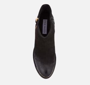 Steve Madden Women's Francy Nubuck Heeled Ankle Boots - Black: Image 3
