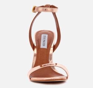 Steve Madden Women's Landen Barely There Heeled Sandals - Rose Gold: Image 2