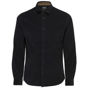 Only & Sons Men's Marshall Long Sleeve Corduroy Shirt - Black