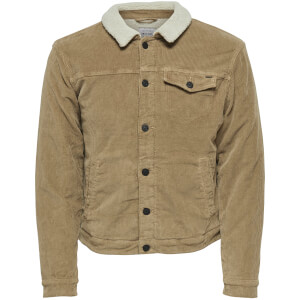 Only & Sons Men's Mode Corduroy Teddy Jacket - Kangaroo
