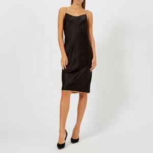 T by Alexander Wang Women's Wash and Go Dress with Contrast Trim - Black/Camel