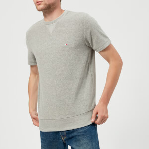 Tommy Hilfiger Men's Towelling Short Sleeve Sweatshirt - Cloud Heather