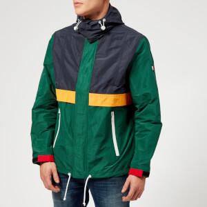 Tommy Hilfiger Men's Color Block Full Zip Jacket - Forest Biome