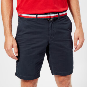 Tommy Hilfiger Men's Brooklyn Shorts with Belt - Sky Captain