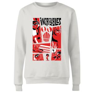 The Incredibles 2 Poster Women's Sweatshirt - White