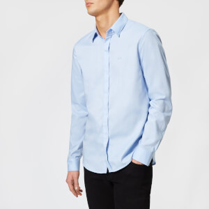 Armani Exchange Men's Slim Oxford Long Sleeve Shirt - Light Blue