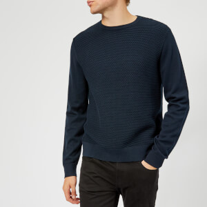 Armani Exchange Men's Waffle Knitted Jumper - Navy