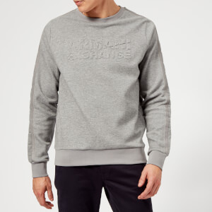 Armani Exchange Men's Quilted Logo Sweatshirt - Grey