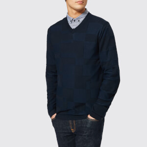 Armani Exchange Men's V-Neck Knitted Jumper - Navy