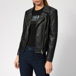 Armani Exchange Women's Biker Jacket - Black