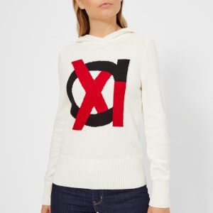 Armani Exchange Women's Knitted Hooded Jumper - Martini