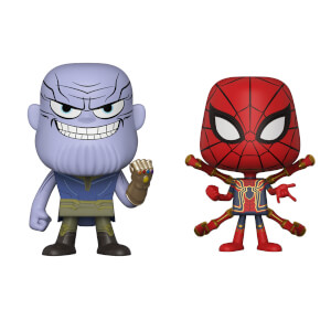 Vynl Thanos et Iron Spider Marvel
