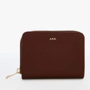 A.P.C. Women's Emmanuelle Compact Wallet - Hazelnut