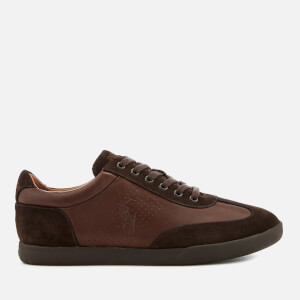Polo Ralph Lauren Men's Cadoc Leather Athletic Trainers - Dark Brown