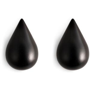 Normann Copenhagen Dropit Small Hooks - Black (Pack of 2)