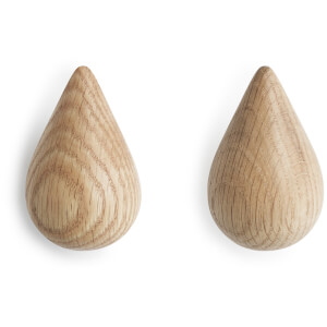 Normann Copenhagen Dropit Small Hooks - Nature (Pack of 2)