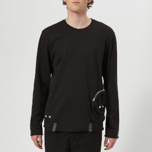 Helmut Lang Men's Distressed Utility Crew Neck Sweatshirt - Washed Black