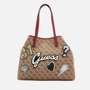 Guess Women's Vikky Large Tote Bag - Brown Multi
