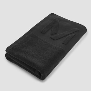 Myprotein Large Towel - Black