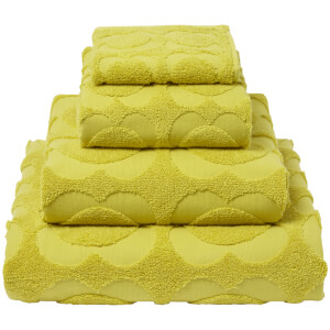 Orla Kiely Spot Sculpted Flower Towels - Dandelion (Pack of 2)