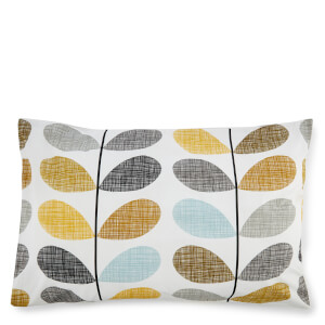 Orla Kiely Scribble Stem Pillowcase Pair - Duckegg