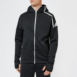 adidas Men's ZNE Free Zip Hoody - Heather/Black