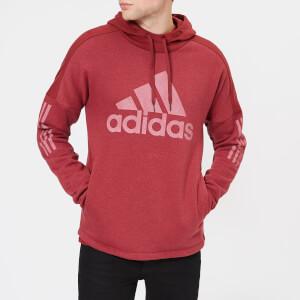 adidas Men's Side Logo Pull Over Hoody - Noble Maroon