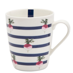 Joules Fine China Mug - Radish Stripe