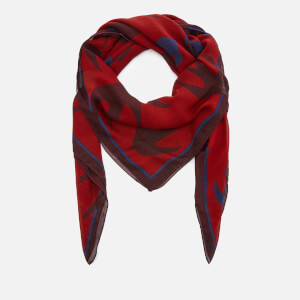 McQ Alexander McQueen Women's Swallow Swarm Scarf - Red Clay